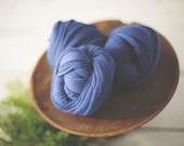 Newborn Stretch Knit Wrap - Newborn Knit Wrap - SAPPHIRE - Stretch Wrap - Stretch Knit Wrap - Photo Prop