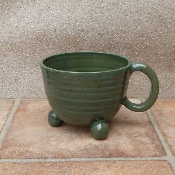 Soup or hot chocolate mug cafe au lait cup hand thrown stoneware