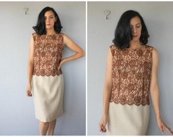 Vintage 60s Dress | Plus Size 60s Dress | 1960s Cocktail Dress | Lace 60s Dress | 1960s Dress