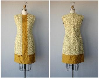 Vintage 60s Dress | Vintage 1960s Cocktail Dress | 1960s Dress | Silk Dress | Lace Dress | 60s Shift Dress