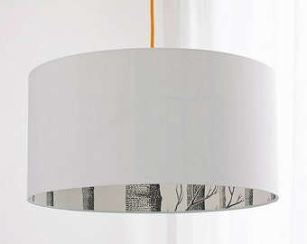 Cole & Son The Woods Silhouette Lampshade in Crisp White