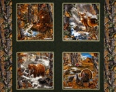 Realtree Camo Fabric - 100% Cotton Fabric Pillow Panel - Pattern 9900