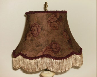 Floral Scallop Lampshade with Fringe