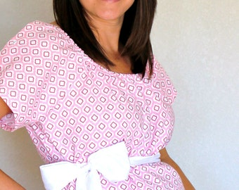 Maternity Hospital Gown in MacKenzie- Perfect for Nursing and Skin to Skin - Choose Options - Ready to Ship