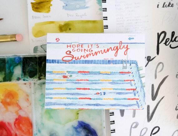Varsity Greeting Card: Swimming