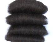 Black Shetland and Black Bamboo Spinning Batts - 4 ounces