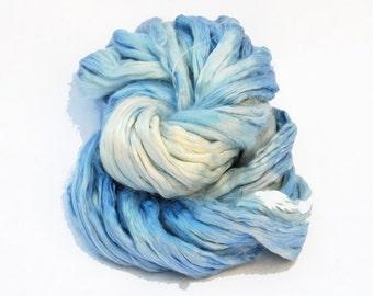 Mulberry Bombyx Silk Sliver Royal Blue Light - 30 grams