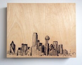 Wood Panel Dallas Skyline Cityscape Art on Wood Customize Your Colors And Size Dallas Art Cityscape Skyline On Wood Panel