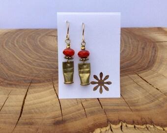 Brass .22 caliber shell earrings