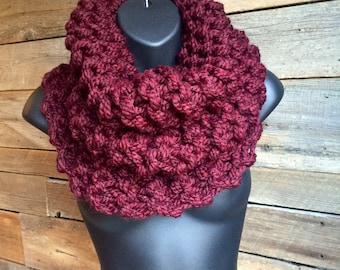 Sassenach, Chunky Knit Scarf, Outlander Inspired Cowl, Womens Winter Infinity Cowl, Wide Scarf, Fall Circle Scarf, Outlander Cowl Scarf