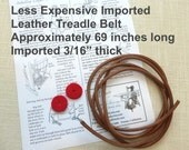 "Less Expensive Imported Leather Treadle Sewing Machine Belt 3/16"" and 69"" Long  Cut to Fit Your Machine Singer Jones White and others"