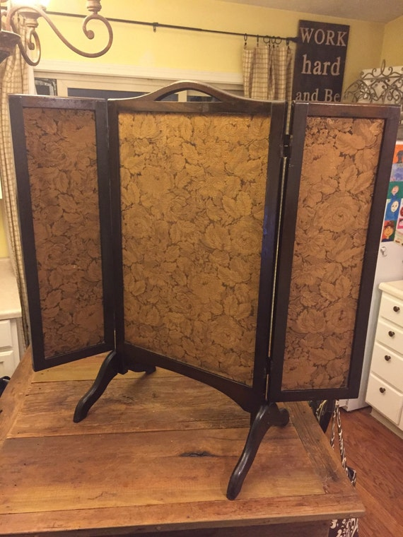 Antique Victorian Fireplace Screen Mahogany By Ptgallery On Etsy