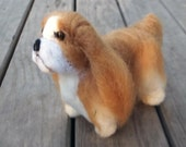English Toy Spaniel needle felted sculpture