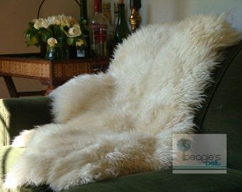 Genuine Rare Unique Handmade Sheepskin Rug