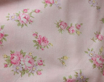 Yuwa Live Life Cotton Fabric 826075BD Roses on Pink