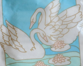 vintage swan couple paper guest towels, 12