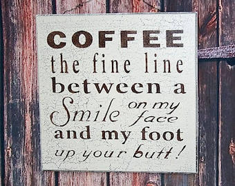 Funny Coffee Sign - COFFEE - Coffee Wall Decor - 12x12 Subway Sign - Kitchen Wall Decor - Coffee Bar - Coffee Home Decor -Coffee Lovers Sign