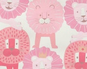 SALE - Alexander Henry - Little Lion in Baby Pink