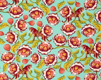 SALE - Tula Pink - Eden Collection - Lotus in Tomato
