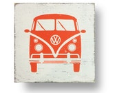 The Iconic VW Volkswagen Bus Rustic Sign