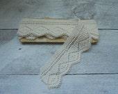 """Sale! Antique Crochet Lace Trim • 45"""""""
