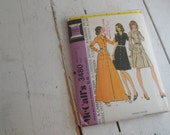 70s Sewing Pattern Buttoned Dress Mccalls 3480 size 14