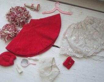 Vintage Barbie Cheerleader Petticoat Red Hat