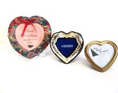 Heart Frame Collection, Silverplate, Brass, and Fabric with Lace Heart Photo Frames, Picture Frames, Valentine's Day Decor