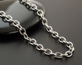 4.3mm Stainless Steel Cable Chain - By the Foot or Finished - Clearance Priced - 100% Guarantee