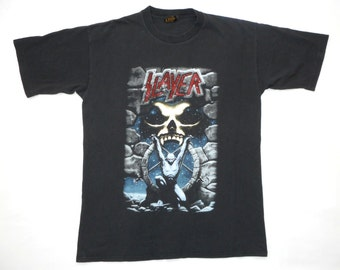 Slayer Vintage 90's Live Intrusion Concert T Shirt 1995 Heavy Metal Thrash XL