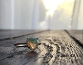Opal Heart Ring, Opal Ring, Opal Engagement Ring, Heart Engagement Ring, Faceted Opal, Opal Promise Ring, Anniversary Ring, Ethiopian Opal