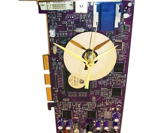 "ON SALE! Rare Purple (RIP Prince!) ""Graphics Circuit Board"" Wall Clock. For the Geek Rocker."