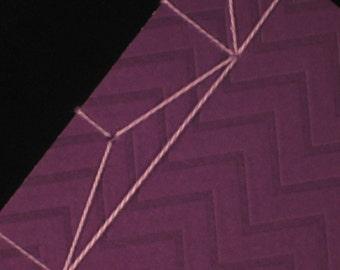 Purple Rain Stab Binding Notebook Journal