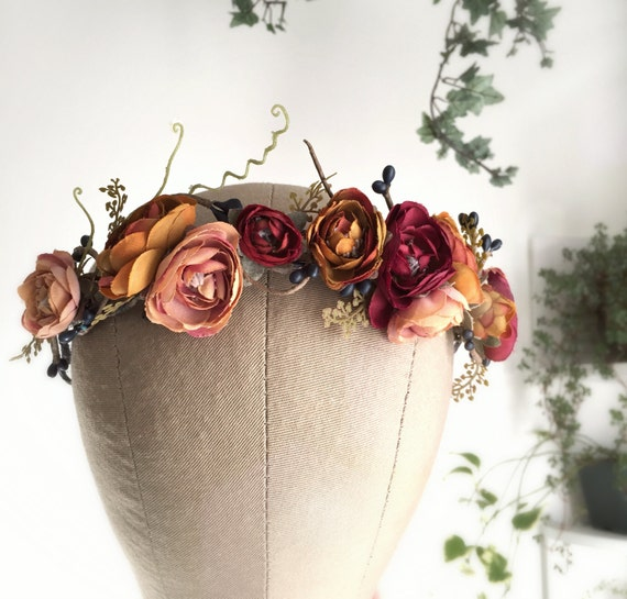 Rustic flower crown, autumn headband, woodland circlet, twiggy headpiece, fall hair accessories - LAST ONE