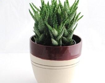 Ceramic planter, pottery vase, kitchen utensil holder, Ready to ship