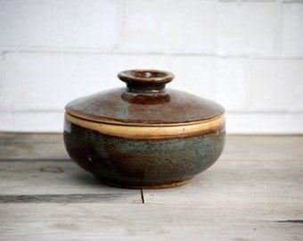 Lidded  soup bowl handmade pottery