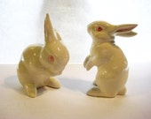 Easter Bunnies Easter Rabbits, Goebel Ceramic Rabbits, Collectible Bunnies, Goebel Bunnies of West Germany, Hummel Goebel Bunny Statues