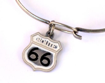 Route 66 State Love Charm Bracelet or Necklace