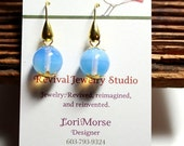 50% off Moonstone Earrings - Simple Earrings - Beaded Earrings