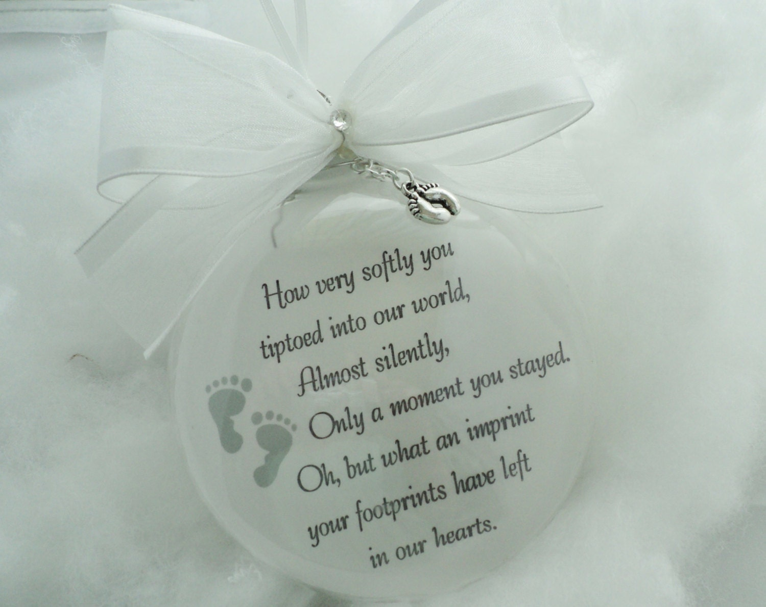 Baby loss ornaments - Baby Memorial Ornament You Tiptoed Into My Life Free Personalization And Charm