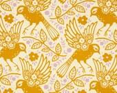1 Yard - Heather Bailey Up Parasol Meadowlark Tangerine - 1 Yard