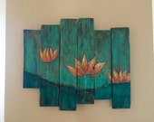 Just like the lotus pallet sign wood aign home decor wall art