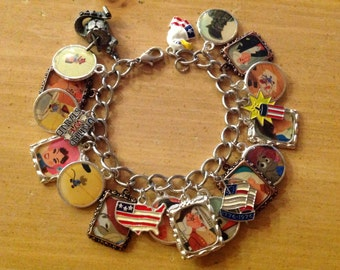 Disney's Ben and Me Altered Art Charm Bracelet