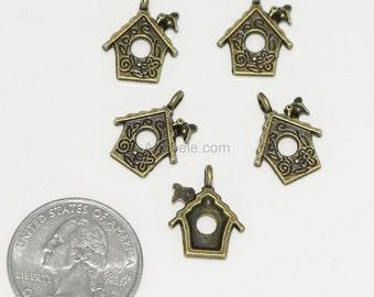 10pcs x Love House Charms 13mm Antique Bronze Tone #MCZ595