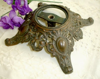 Metal Lamp Base Decorative Footed Vintage Shabby Cottage Chic