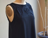 Folded Swing Dress, Tank,Cotton Jersey, Classic Modern- made to order, one of a kind