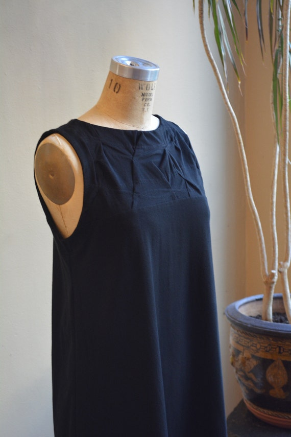 Folded swing dress tank cotton jersey classic modern made to order