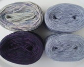 LAVENDER/PURPLE - Sport Weight Set (6ply) for the Criminal Knits MKAL --  Blue Confetti - Purple - Lavender