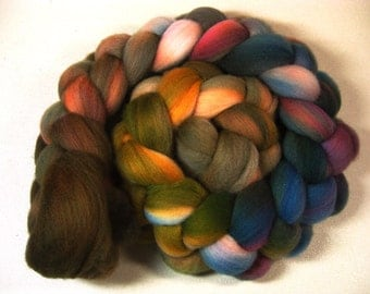 November 2 organic Polwarth wool top for spinning and felting (4.1 ounces)