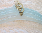 Vintage Samsonite Travel Hangers, Baby Blue - set of 4